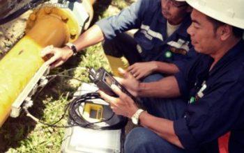Pengetesan Debit Air Limbah Dengan Portable Flow Meter