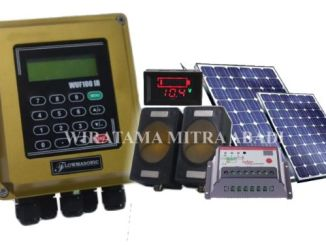 Flowmeter clamp on ultrasonic tenaga matahari