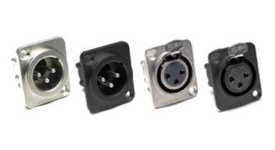 AX Series Chassis Mount, XLR Connectors-Amphenol