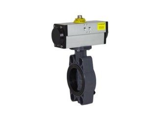 Pneumatic Butterfly Valve Single or Double Acting VPP FE-PVC