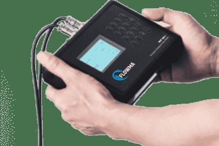 Mengoprasikan Portable Flow Meter