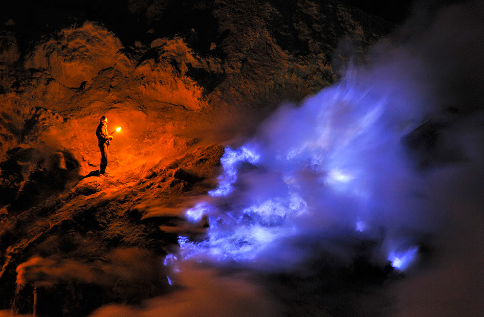 Blue Flame of Ijen Crater