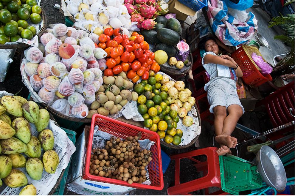 Pani z warzywniaka w Wietnamie