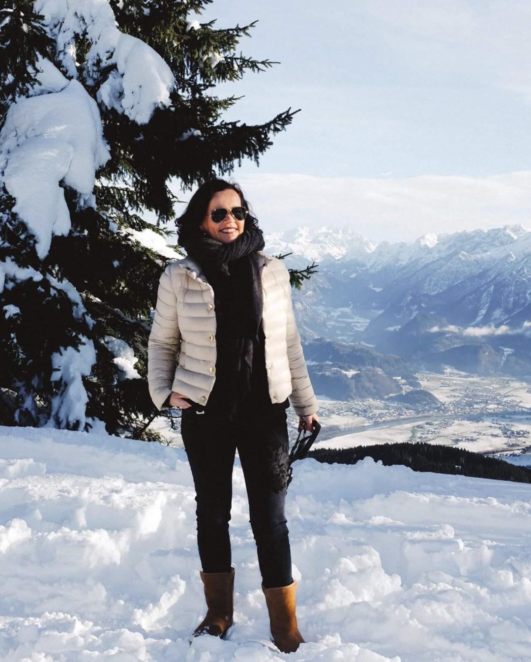 Winter Winterlandschaft Alpen Ausblick Ü50Mode fashionover50 inastil christmastime WeihnachtszeitIMG_7342