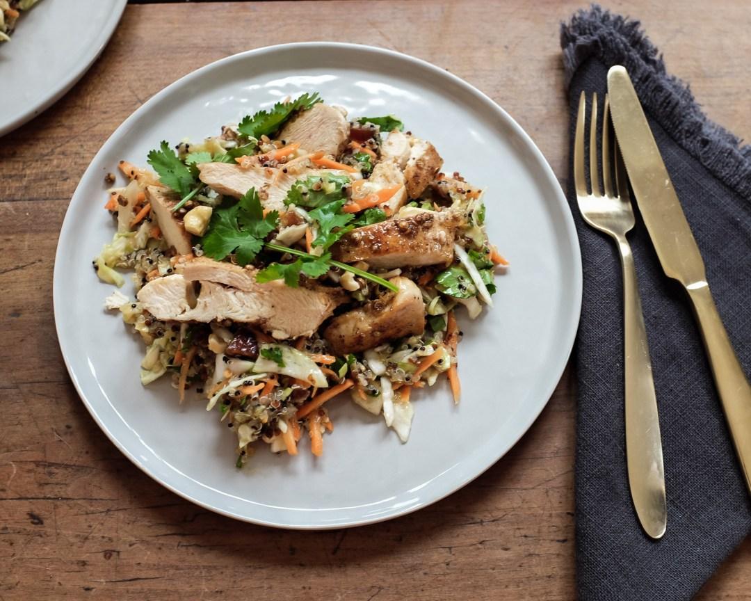 inastil, Ü50Blogger, Rezept, orientalischer Quinoasalat mit Hühnchen, lowcarb, leichte Rezepte, Mittagessen,_-2