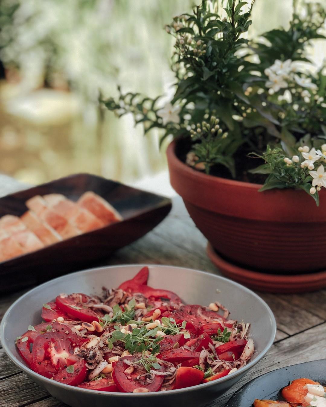 inastil, Tomaten, Tomatoes, Tomatensalat, Vorspeise, Antipasti, Tomatenernte, Sumach-9