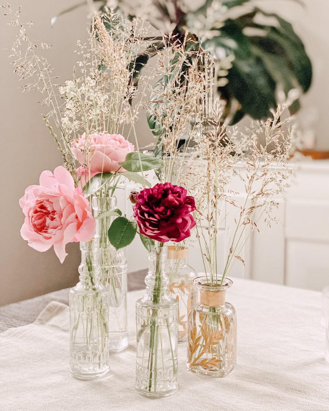 Inastil, Blumenliebe, Blumenstrauß, Dekoration, Blumendekoration, DIY, Gartenblumen, Rosen, Wiesenblumen, Blumenvasen, Homedecor, Dekoration Solebenwir, Daheim-22