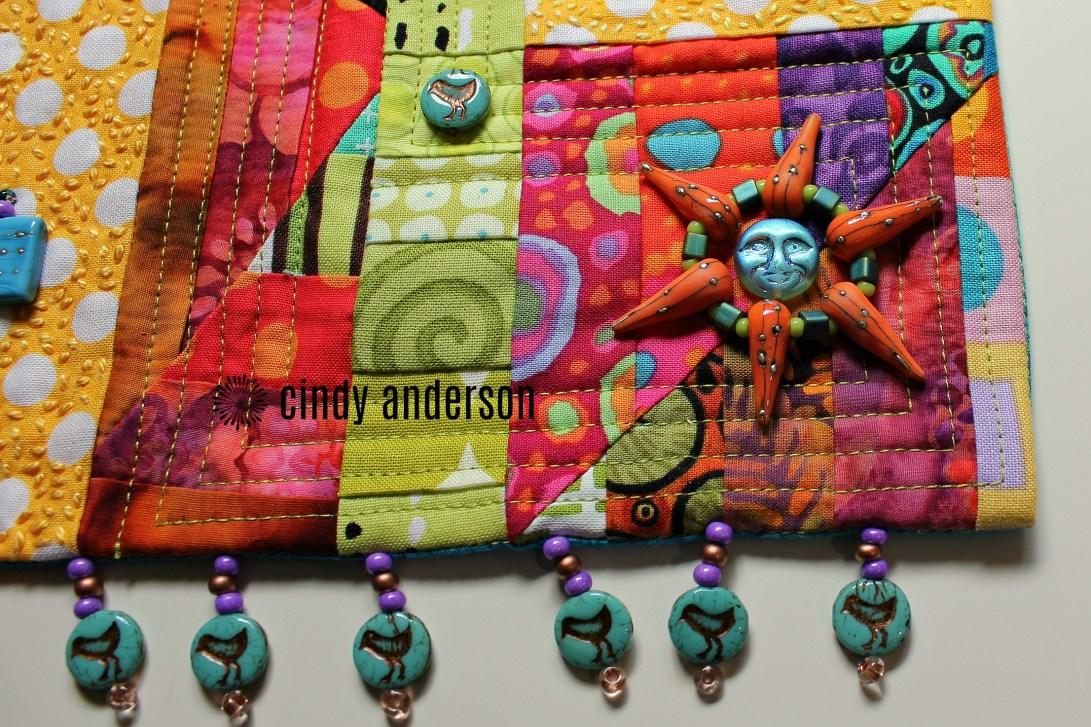 Art Quilt # 5: Sunrise (view of bottom right corner)