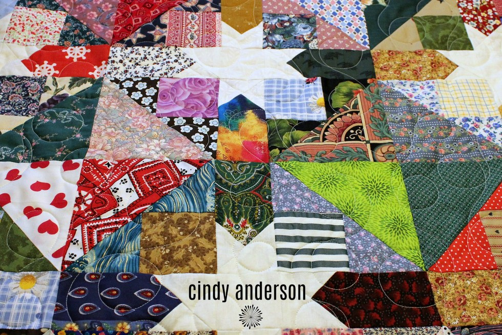 Cindy T's Scrappy Star Quilt