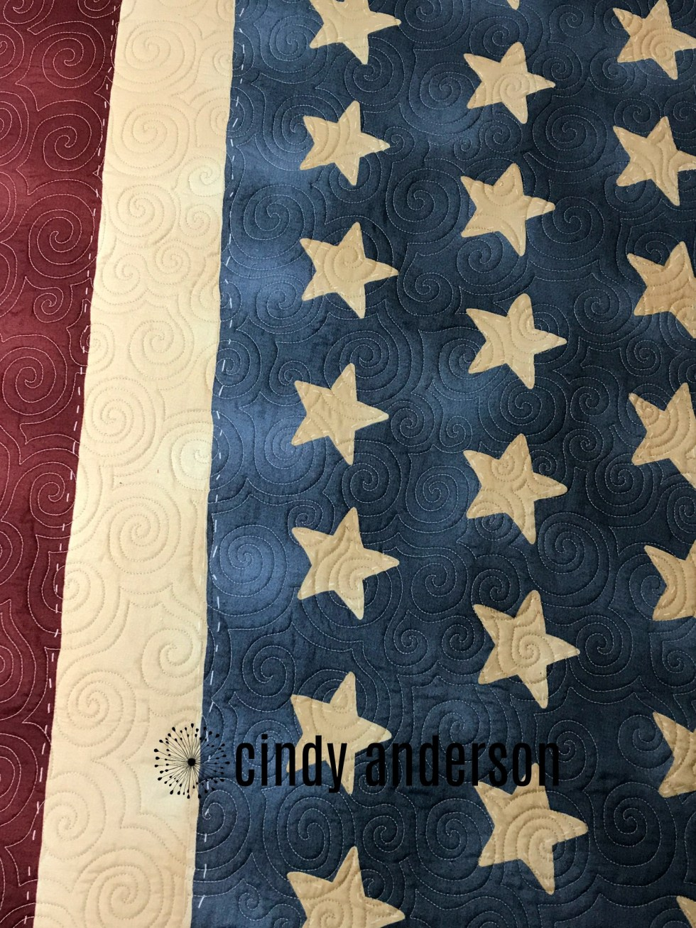 American Flag Picnic Blanket (Quilting)
