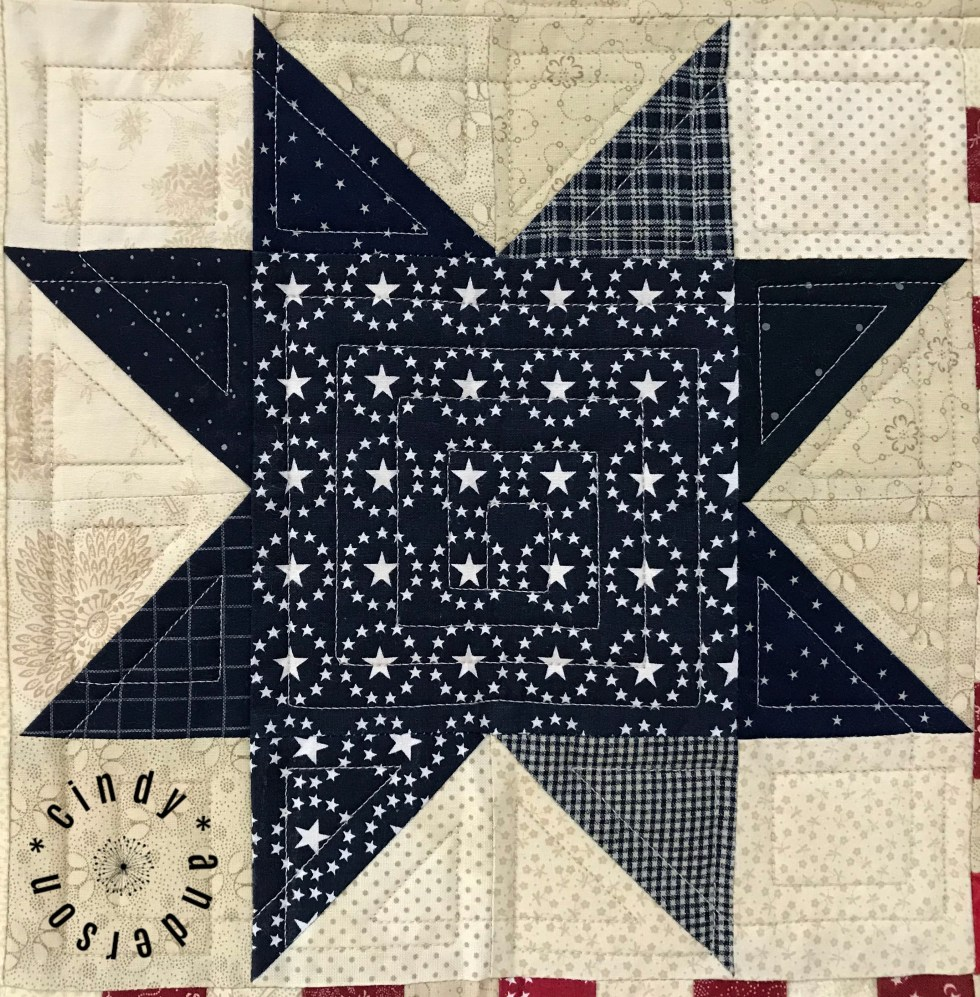 Stars-and-Stripes-Table-Quilt-Quilting-in-Star