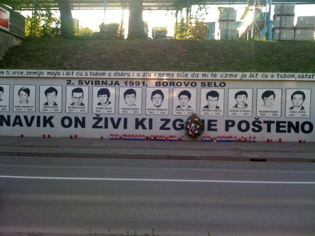 "Borovo Selo Memorial Wall: ""He Who Dies In Honesty - Lives Forever"""