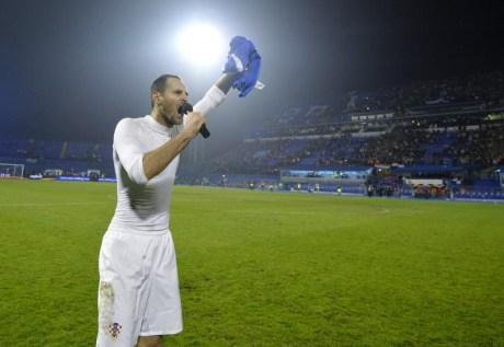 "Josip Simunic calls out: ""For Home!"" Photo: Marko Lukunic/Pixsell"