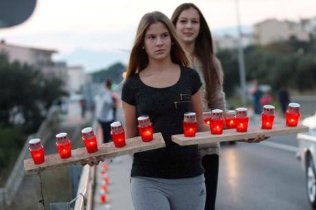 Remembering Vukovar in Makarska, Croatia - November 2013 Photo: Ivo Ravlic/Cropix