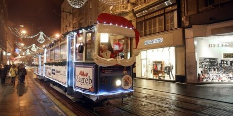 Advent on Zagreb trams, Croatia