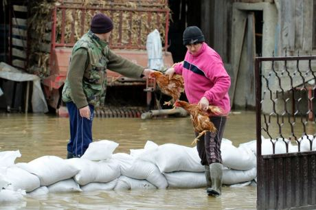 Varazdin, 01.04.2013 - Zbog obilnih kisa i topljenja snijega, poplave prijete kucama na podrucju Ludbrega