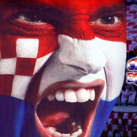Croatian flag face paint