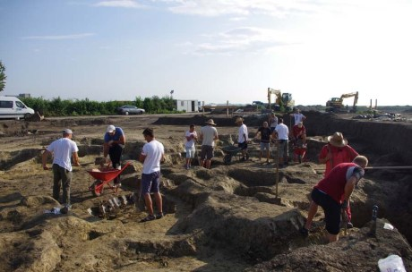 Vinkovci, Croatia -  archaeological dig site unearthing the largest Stone Age city in region