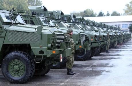 USA donates military vehicles to Croatia