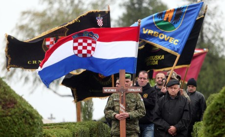 Funeral of Nevenka Topalusic in Vrbovec, Croatia - Thursday 23 October 2014 Photo: Slavko Midzor/Pixsell