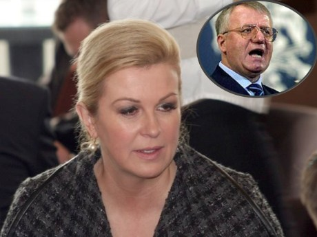 Kolinda Grabar-Kitarovic President-elect of Croatia Inset: Vojislav Seselj, indicted war criminal