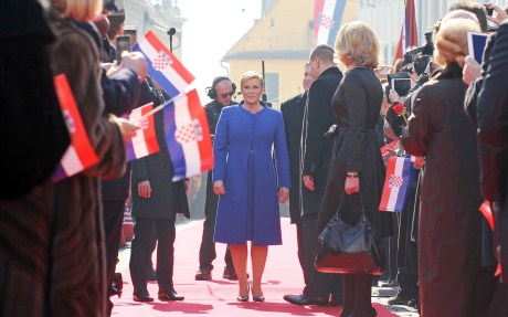 Kolinda Grabar Kitarovic with citizens