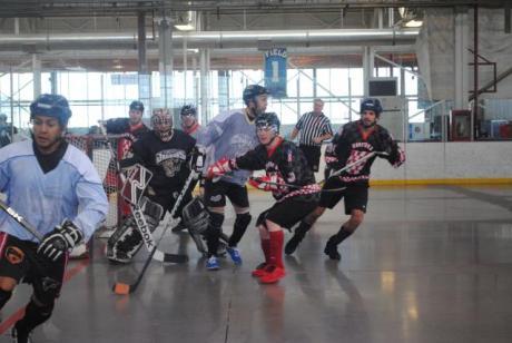 Croatian Ball Hockey Team In Action Canada - March 2015 Photo: www.croatianballhockey.com