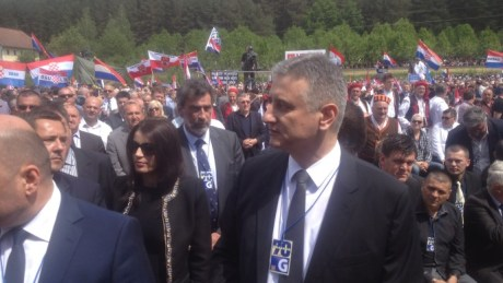 Front: Tomislav Karamarko,  Leader of the Opposition/HDZ At Bleiburg 16 May 2015 Photo: hrt.hr