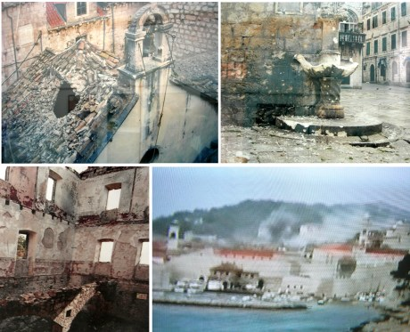 Serb aggression devastated Croatian towns and people in 1990's