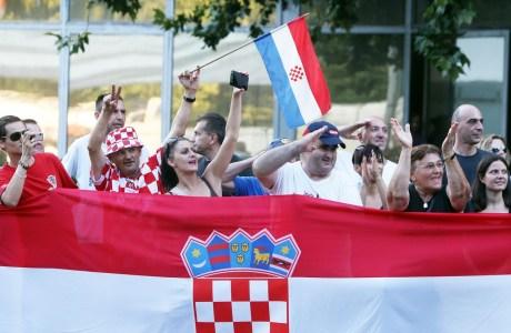 The joy of victory Zagreb Croatia 20th Anniversary of Operation Storm Photo: AA