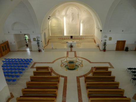 Church of Croatian Martyrs Udbina the altar and the Glory of Croatian Martyrs relief by Kuzma Kovacic