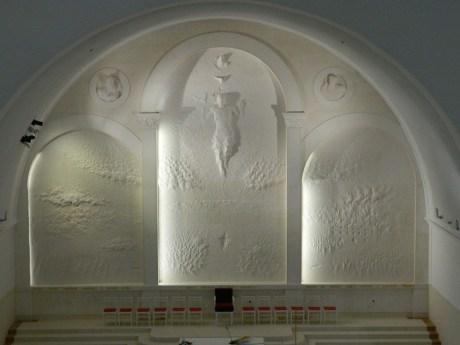 The Glory of Croatian Martyrs Sculpture relief by Kuzma Kovacic Church of Croatian Martyrs Udbina Croatia