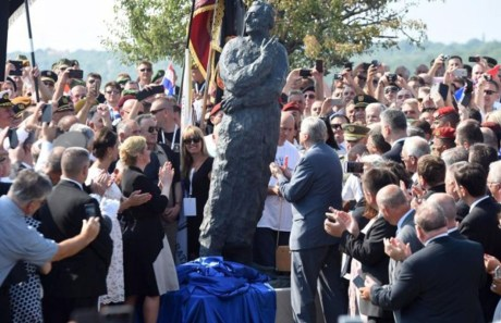 5 August 2015 20th Anniversary of Operation Storm Croatian victory over Serb aggressor Monumental statue in honour of Franjo Tudjman, first president of Croatia Photo: Hrvoje Jelavic/PIXSELL