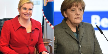 Angela Merkel and Kolinda Grabar-Kitarovic
