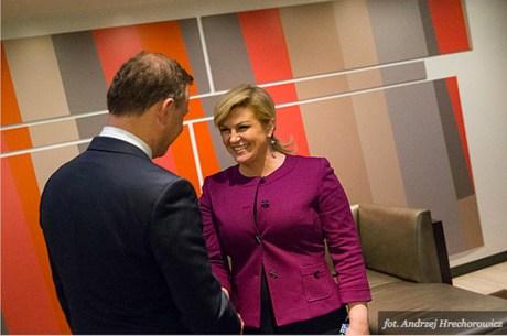 Croatia's President Kolinda Grabar-Kitarovic hosting the 29 September 2015 Adriatic-Baltic-Black Sea Group meeting at UN