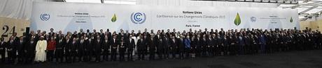 World leaders at Paris Climate Change Summit 30 November - 11 December 2015 Photo: AFP