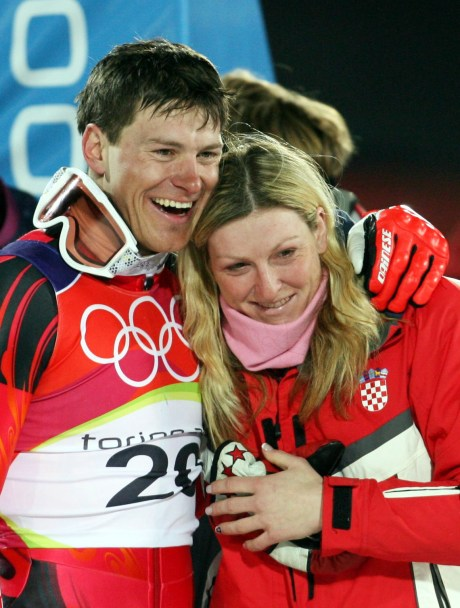 Ivica and Janica Kostelic Turin Winter Olympics 2006 Photo: EPA/KAY NIETFELD
