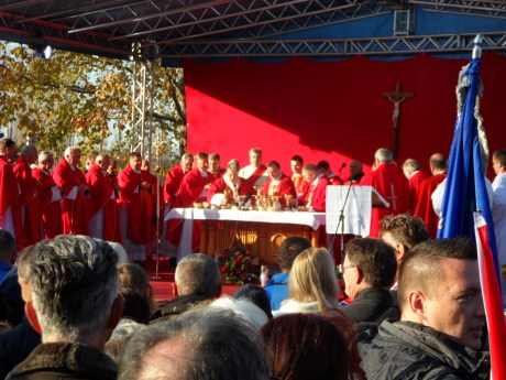 Holy Mass at Vukovar Memorial Cemetery 18 November 2016 Photo: Connor Vlakancic