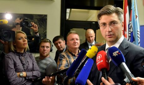 Croatia's Prime Minister Andrej Plenkovic upon his visit to BiH on 28 October 2016 spoke up for Croatia's support for all Croats living in BiH Photo: Hanza Media