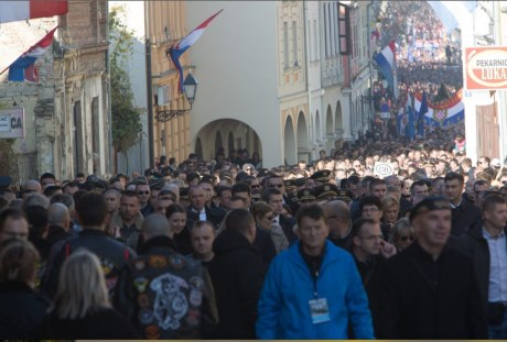 Remembrance march in Vukovar 18 November 2016 Photo: Screenshot Jutarnji List