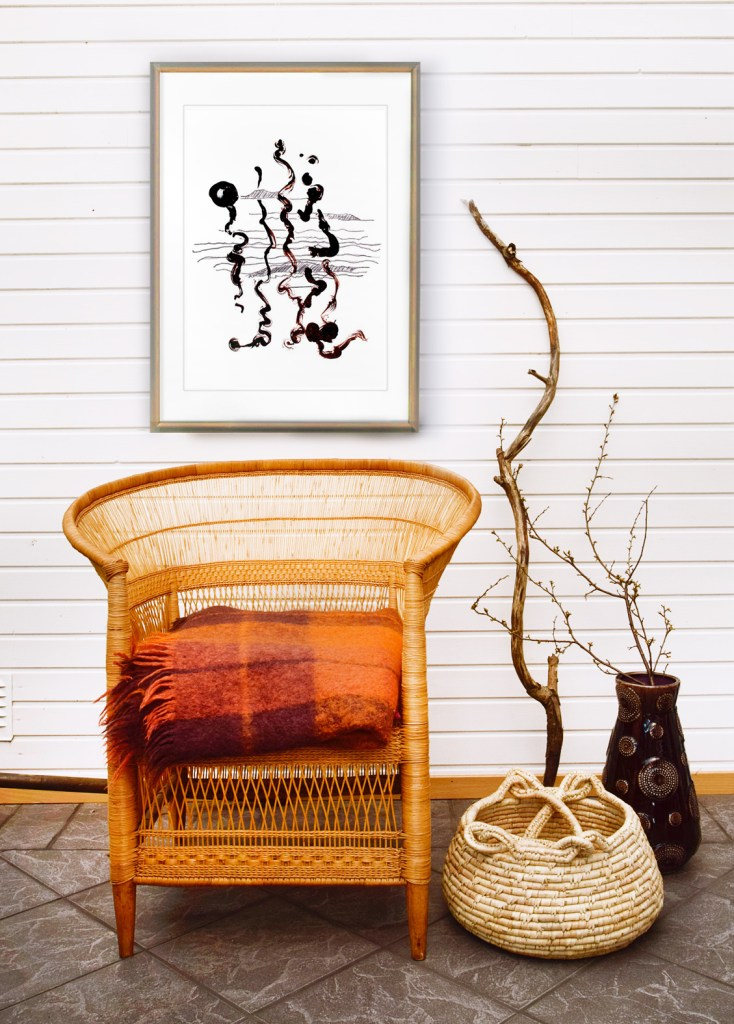 Affisch, wall art, poster, prints. Charcoal and ink. Printed on very fine acid-free watercolor paper, 210 gr. At www.inbedesignshop.tictail.com