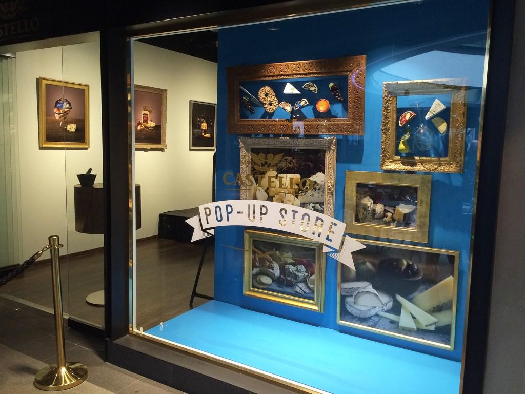 Castello pop-up store. Window display.