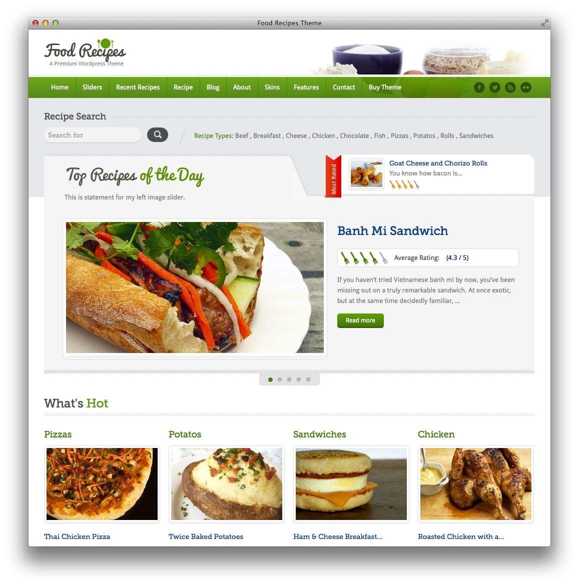 кулинарные темы WordPress 9