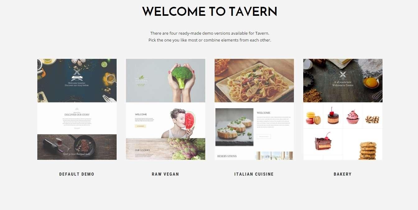 Tavern- многоцелевая wordpress тема для пищепром бизнеса