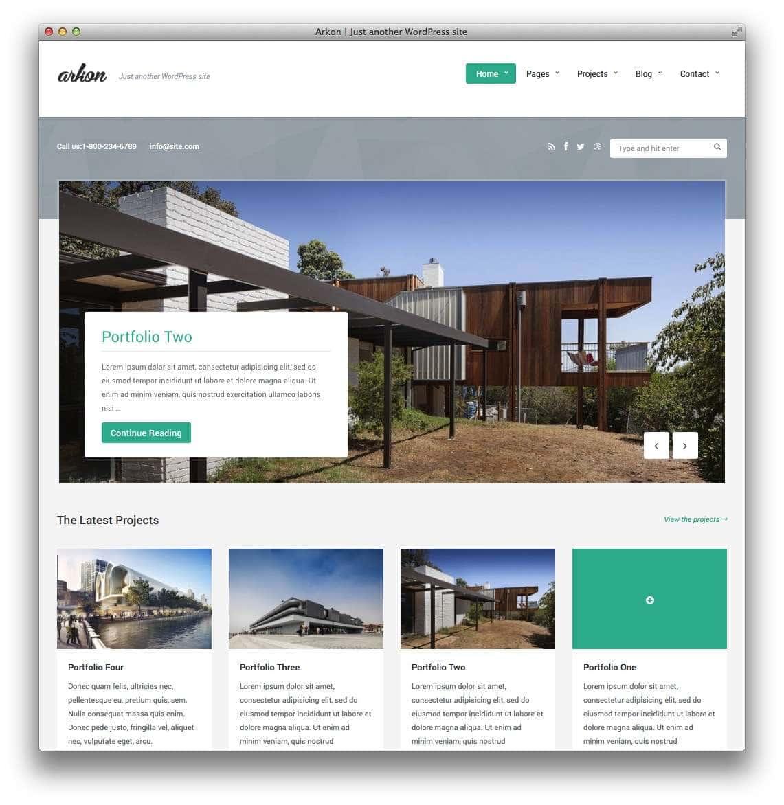 WordPress Шаблоны для архитекторов и ландшафтных дизайнеров13