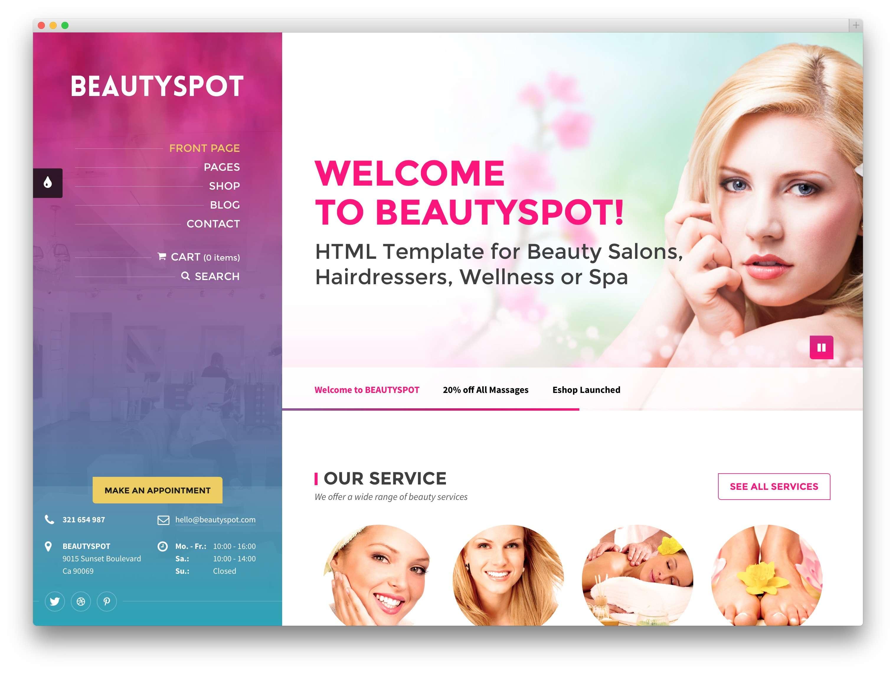 WordPress для салона красоты1