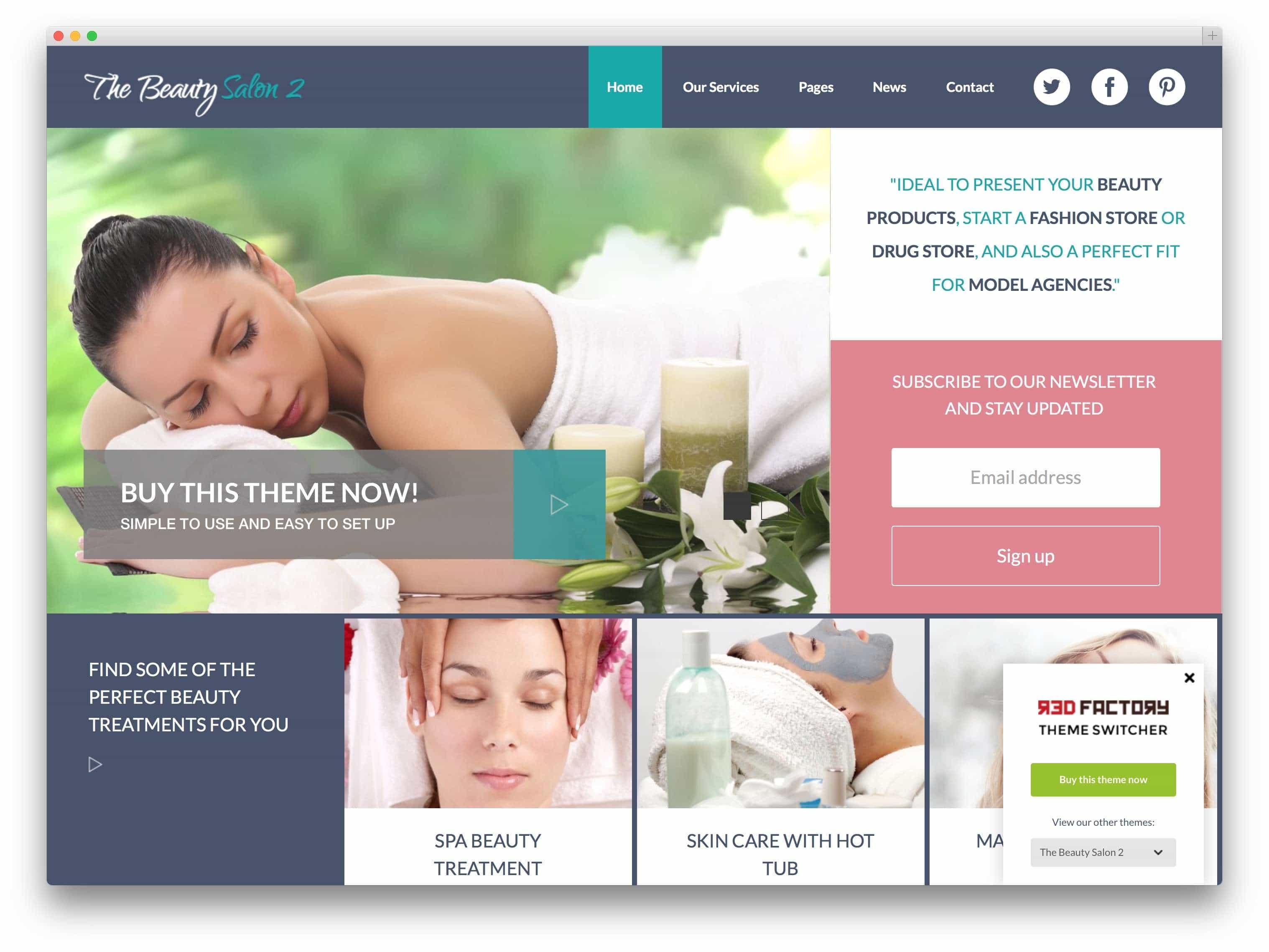WordPress для салона красоты2