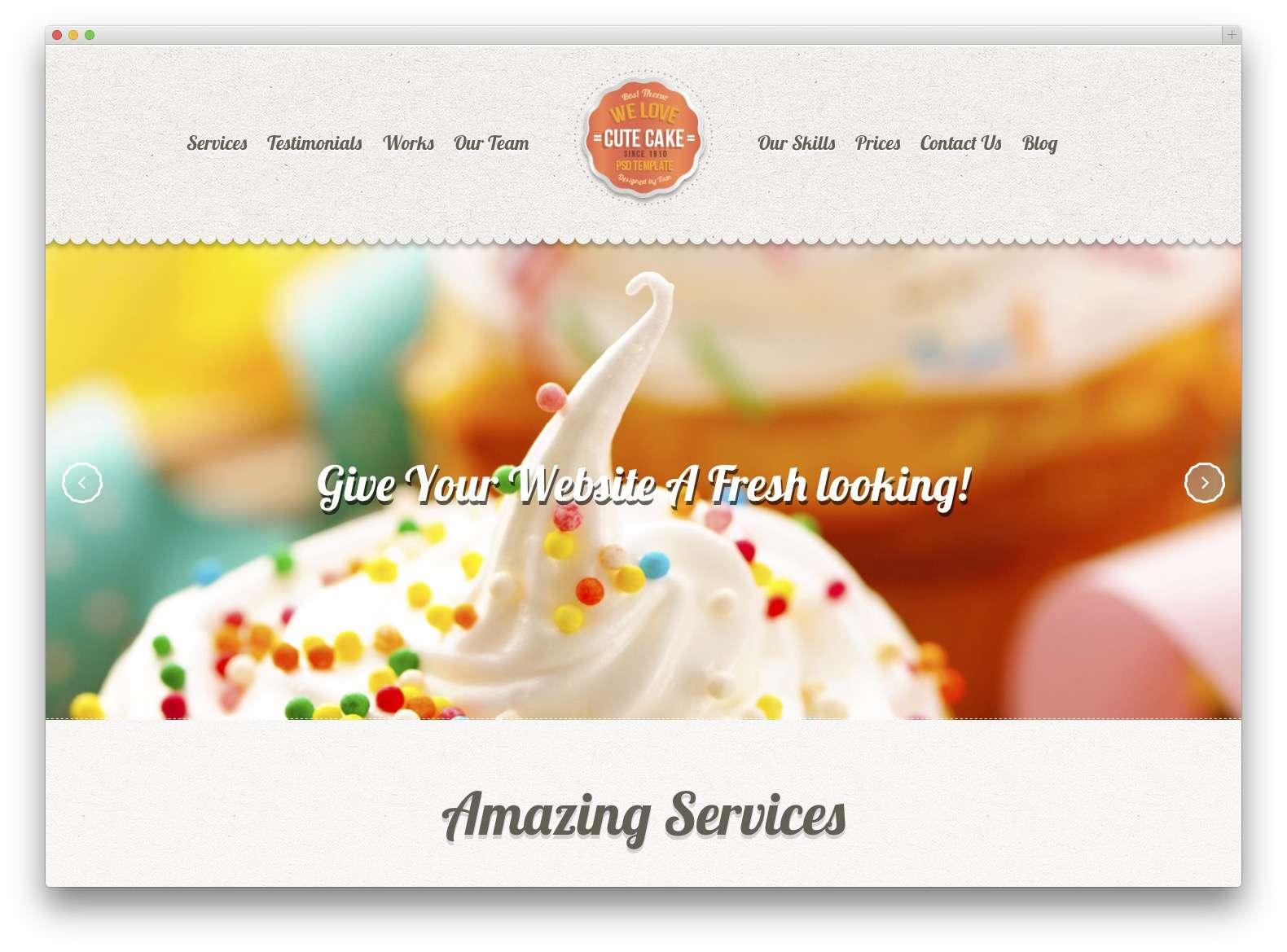 WordPress сайт для кондитерской или кофейной2