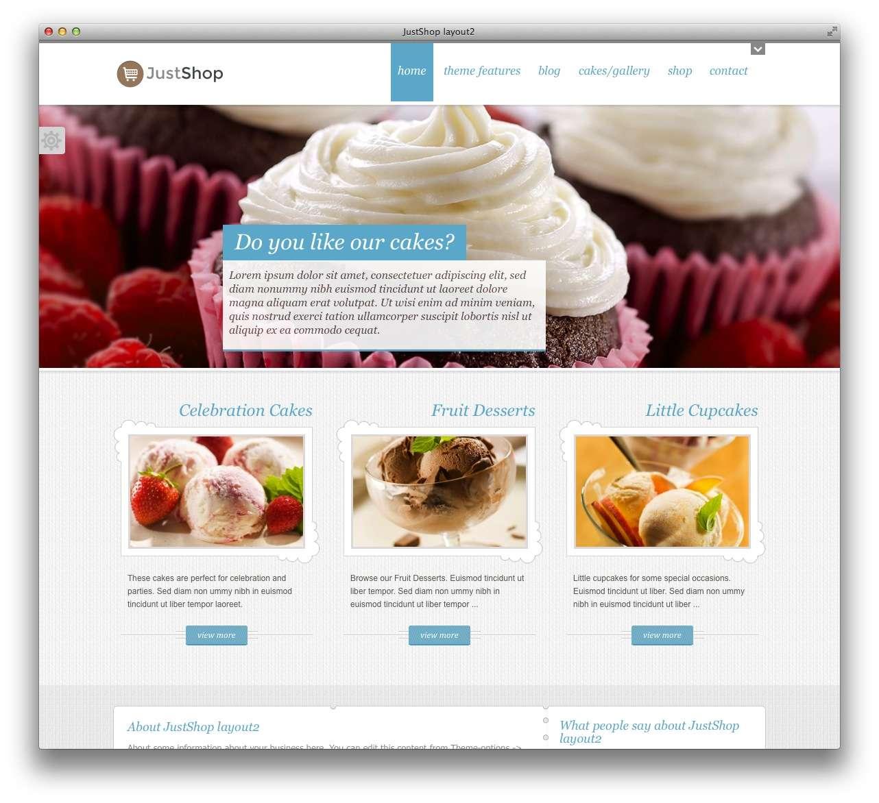 WordPress сайт для кондитерской или кофейной6