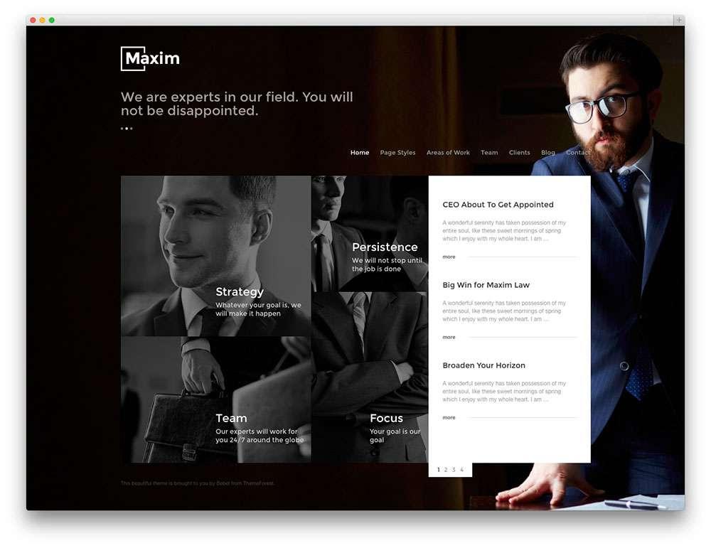 WordPress – Адвокаты и юридическая практика5
